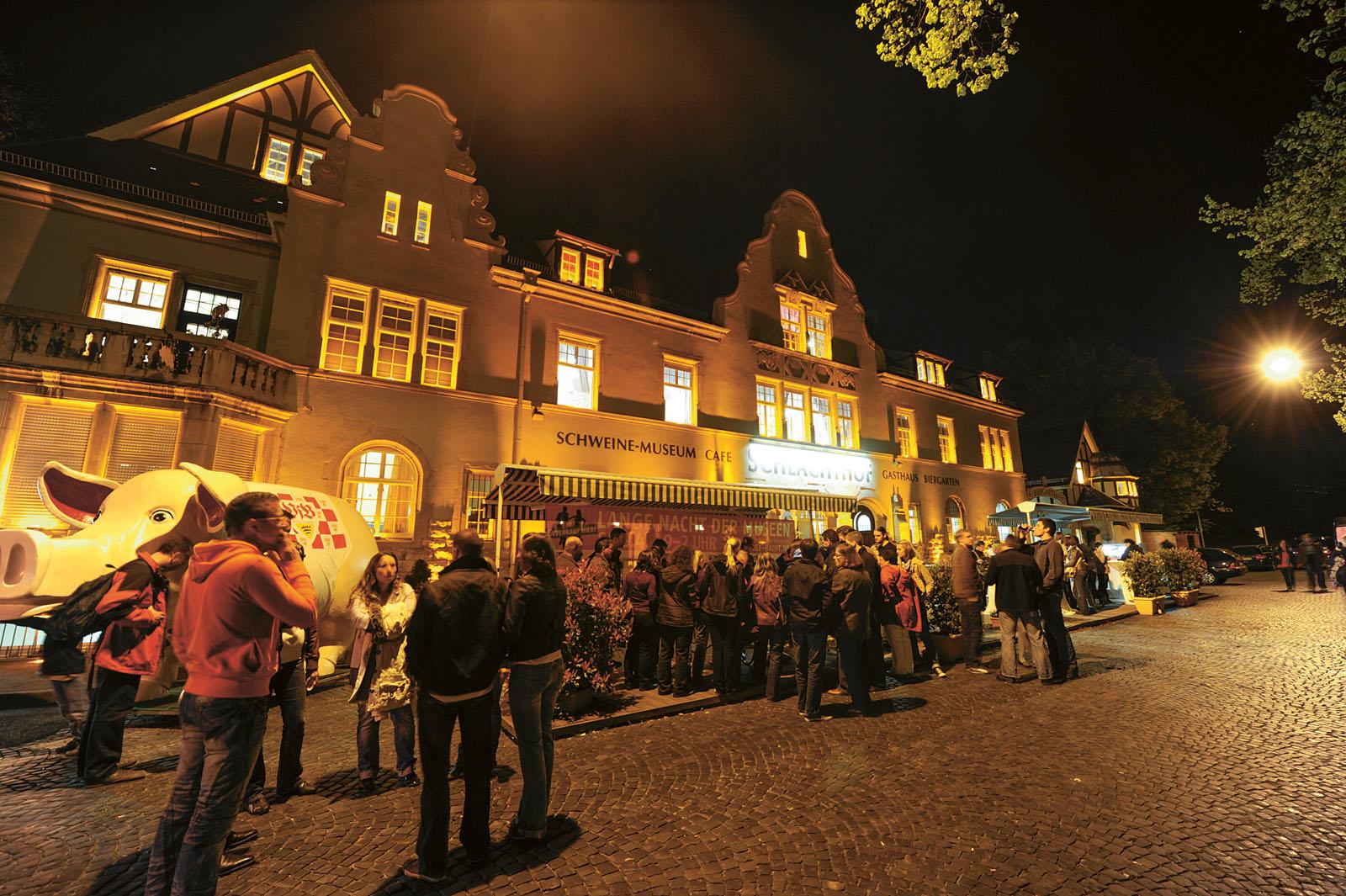 Lange Nacht der Museen Stuttgart - Schweinemusem aussen
