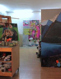 Lange Nacht der Museen Stuttgart - Atelierhaus Brueckenstrasse Atelieransicht