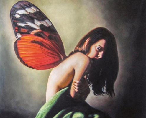 Lange Nacht der Museen Stuttgart - Galerienhaus Galerie Kerstan Rainer Schoch Schmetterlingskind