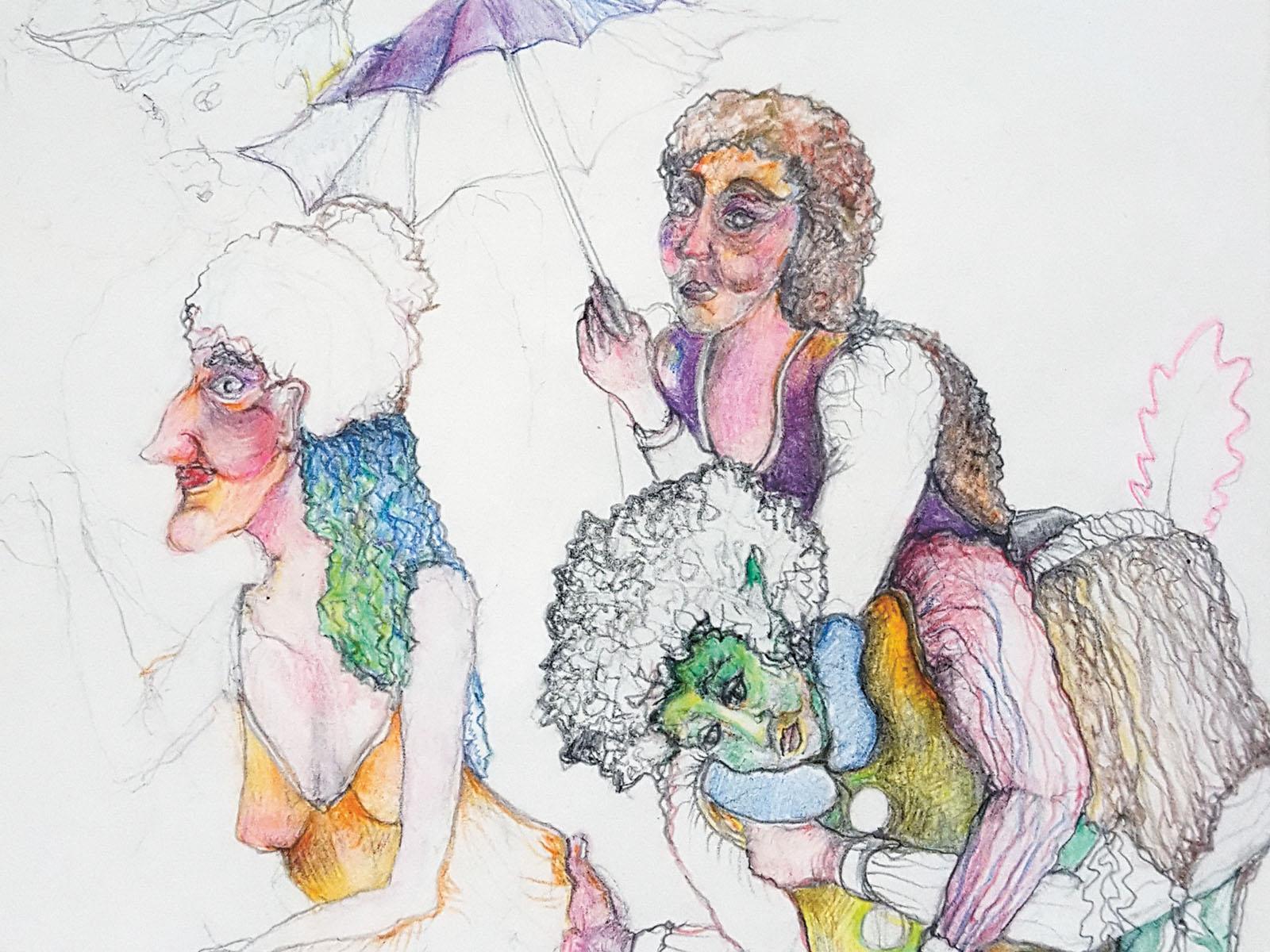 Lange Nacht der Museen Stuttgart - Kunst im Hinterhaus Margarete Kiss quer