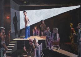 Lange Nacht der Museen Stuttgart - Patrick Angus, Boys Do Fall in Love, 1984, acrylic on canvas, 12